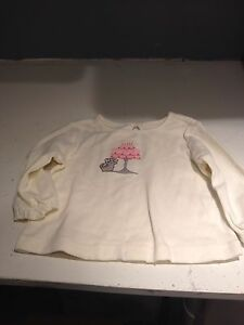 Tops & T-shirts Romantic Gymboree Classroom Kitty Ivory Long Sleeved Tee Size 6-12 Months