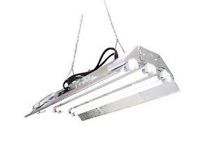 grow light 2 ft 6 lamps dl826s fluorescent fixture hydroponic veg. Black Bedroom Furniture Sets. Home Design Ideas