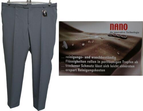 Nuevo tamaño corto elegante señores sustancia pantalones dehnbund gris nano tecnología talla 34
