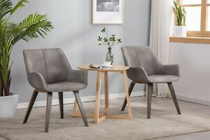 Peachy Details About Yeefy Dark Wood Leather Dining Chairs Modern Dining Room Chairs Bralicious Painted Fabric Chair Ideas Braliciousco