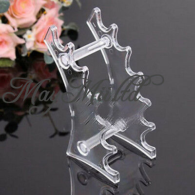 Plastic Transparent Pencil Pen Eyebrow Display Holder Stand Rack Frame 6 Rooms J