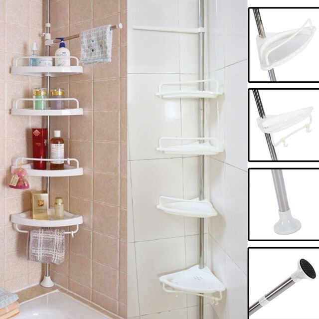 Bathroom Bathtub Shower Caddy Holder Corner Rack Shelf Organizer ...