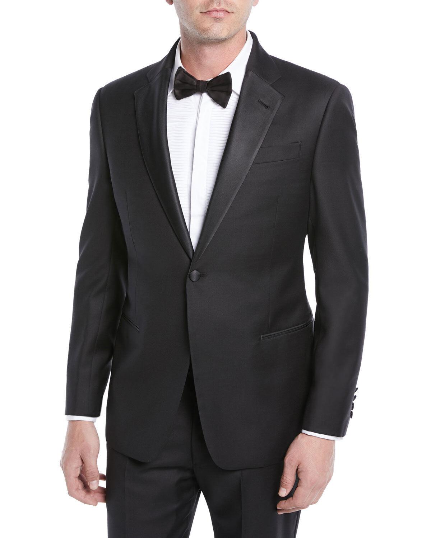 188 Armani Emporio Armani G Line Super 130's One Button Tuxedo Größe 42 R