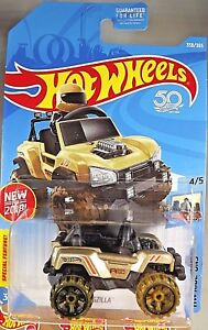 2018-Hot-Wheels-358-Ride-Ons-4-5-BOGZILLA-Gold-w-Olive-Wheels-Olive-OH6-Spoke
