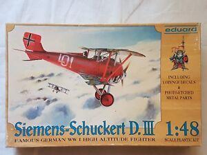 Eduard-8001-Siemens-Schuckert-D-III-1-48-Neu-und-eingetuetet