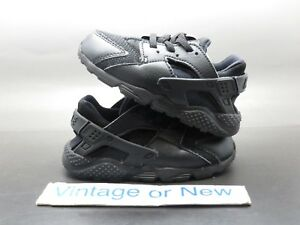 a618bed12d44 Image is loading Nike-Air-Huarache-Run-Triple-Black-Running-Toddler-
