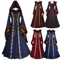 Queen Renaissance Costume Medieval Maiden Halloween Fancy Cosplay Adult Dress