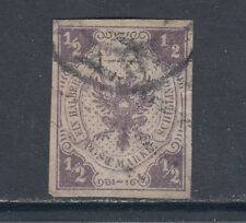 Lubeck Sc 6 used 1862 ½s lilac imperf Coat of Arms, APEX Cert.