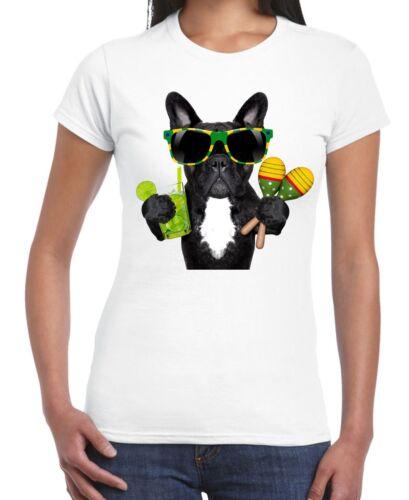 French bulldog forêt style t-shirt femme-bulldogs brésil drôle