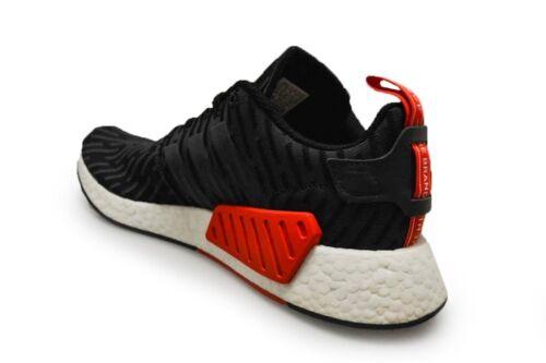 Zapatillas Negro Rojo Hombre by2499 Nmd R2 Blanco q0wYtI