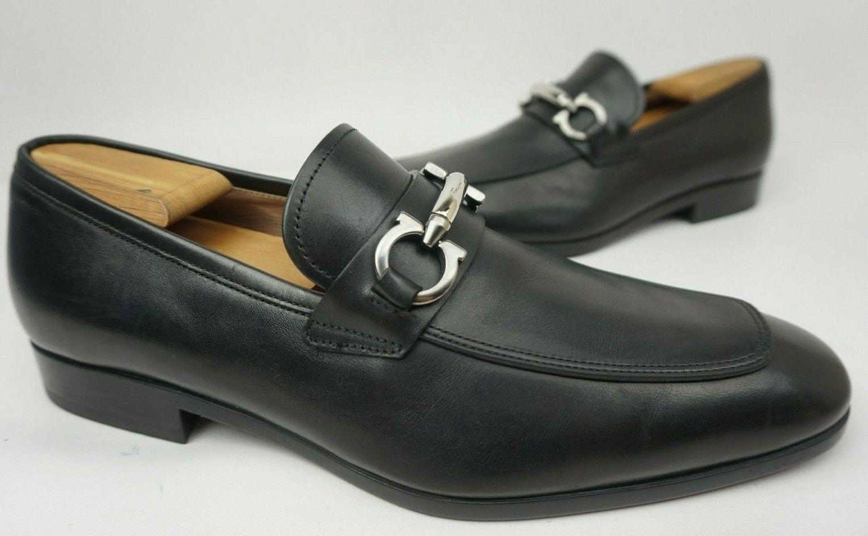 Salvatore Ferragamo Benford nero Leather Lofers Men's Dimensione  US 8.5 2E EE  risparmia fino al 70%