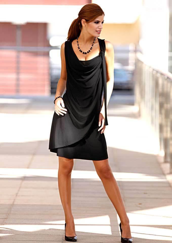 Designer-Kleid schwarz Party Cocktail Hingucker festlich Gr. 38