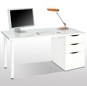 Madrid Artic White Desk Study Office