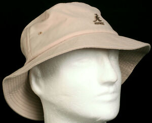 New-Kangol-Kangaroo-Light-Khaki-Tan-Wynn-Bucket-Hat-Flexfit-Size-Small-Medium