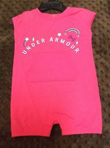 Under Armour 18 Months Pink White Polka Dot Romper One Piece NEW