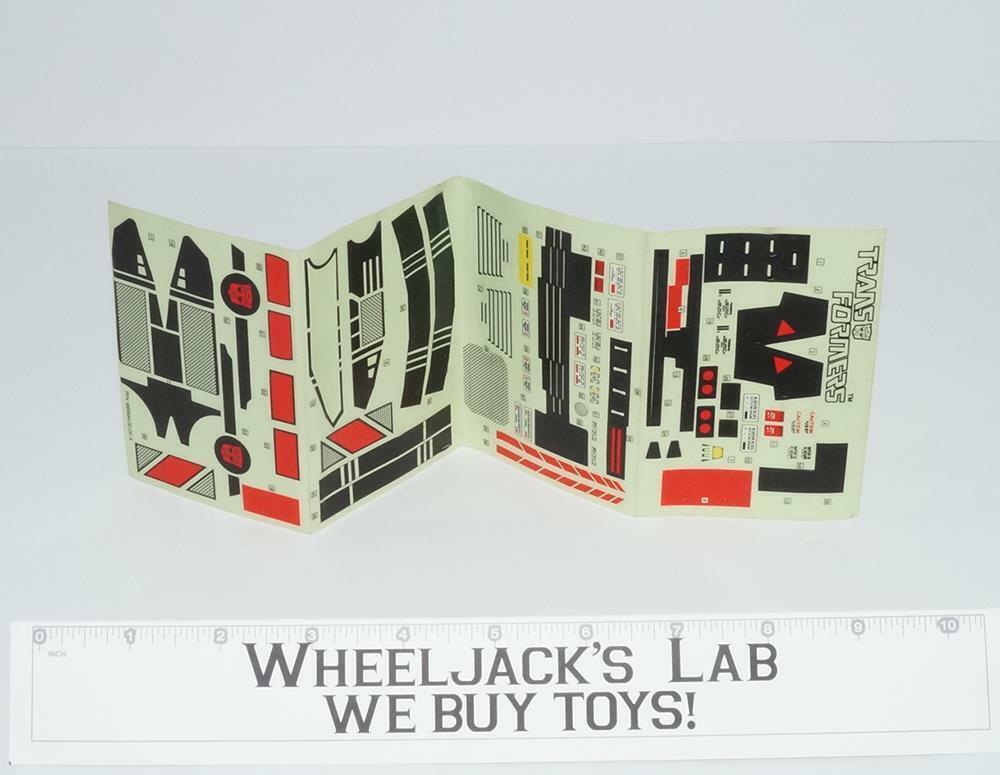DECAL Sticker Sheet G1 Transformers Jetfire 1985 Vintage Figura De Acción De Hasbro