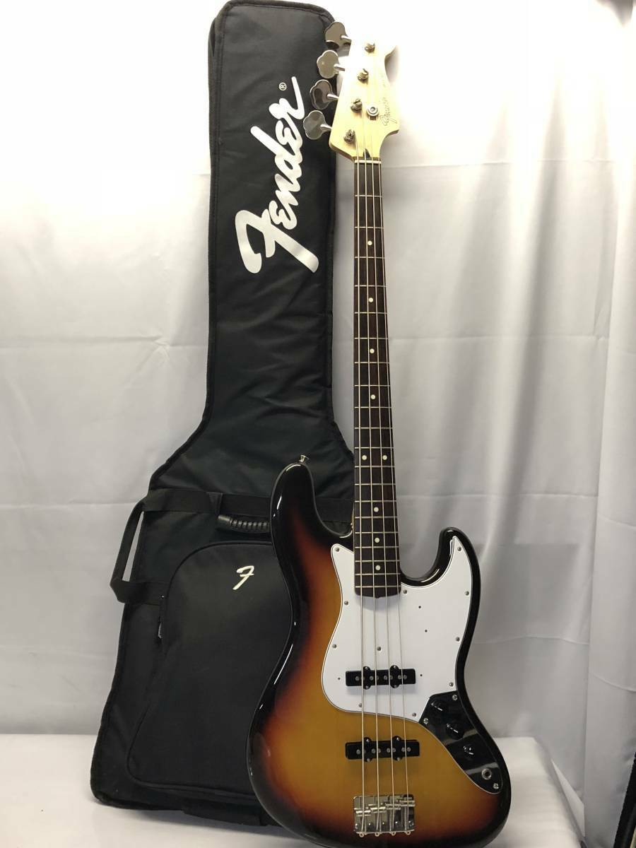 With electric base case FENDER JAZZ BASS beutiful JAPAN rare useful EMS F S