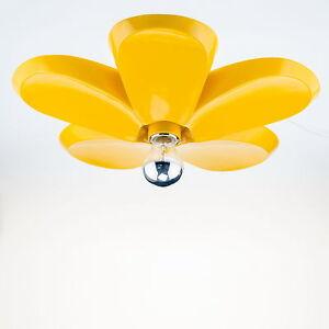 Deckenlampe-Wohnzimmer-Blumen-Form-Gelb-Retro-Schlafzimmer-Lampe-Maedchen-Leuchte