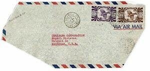 New-Caledonia-1948-Airmail-Cover-to-Michigan-front-only-see-notes-Lot-101717