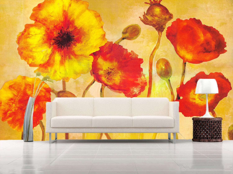 3D Pflanze  Ölgemälde 8 Tapete Wandgemälde Tapete Tapeten Bild Familie DE Summer
