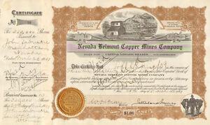 Comstock Dexter Mines /> 1937 Arizona mining stock certificate share