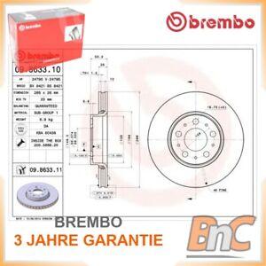 2 Bremsscheibe BREMBO 09.8633.11 COATED DISC LINE passend für VOLVO