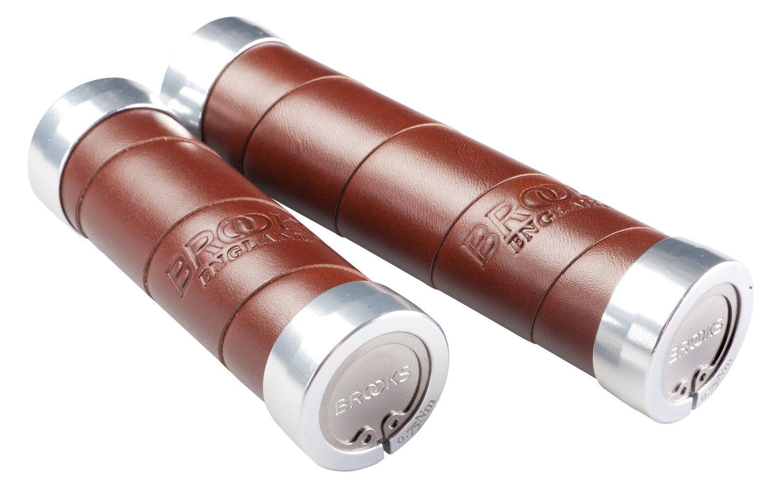 Brooks pinzamientos manillar pinzamientos Slender cuero marrón diferentes Largoitudes elegibles   tienda de descuento