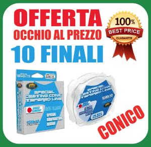 FILO-CONICO-SHOCK-LEADER-10-PEZZI-DA-15-METRI-SURFCASTING-TERMINALI-ORATA-FINALI