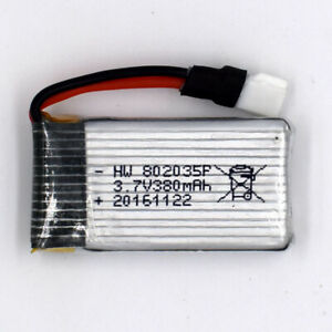 3-7V-380mAh-30C-802035-1S-Li-Po-Helicopter-Battery-for-Remote-RC-51005-Connector