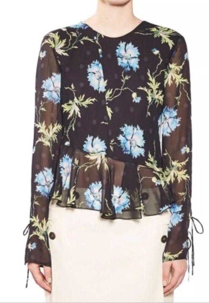 NWT Topshop Floral Silk  damen Top Größe 4