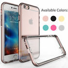 Aluminum Metal Frame Bumper Clear TPU Back Case For Apple iPhone 6 6s / 6S Plus