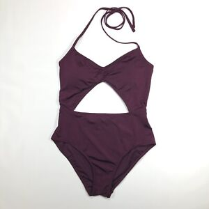 fceacee341 Image is loading Abercrombie-amp-Fitch-One-Piece-Cutout-Bathing-Suit-
