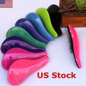 US Knot Magic Hair Tamer Styling Salon Detangling Hair Brush Tangle Comb Tangle