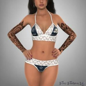 Dallas-Cowboys-white-lace-top-and-g-string-lingerie