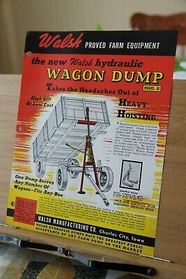Brochure Walsh Manufacturing Co Charles City Iowa IA Hydraulic Hoist Wagon  Dump | eBay