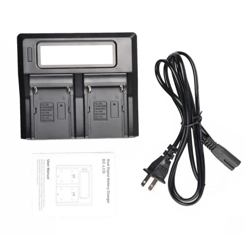 Pantalla Lcd Dual 2-Ajuste Cargador De Batería Para Sony NP-F970 F960 F950 F770 F750/&F550