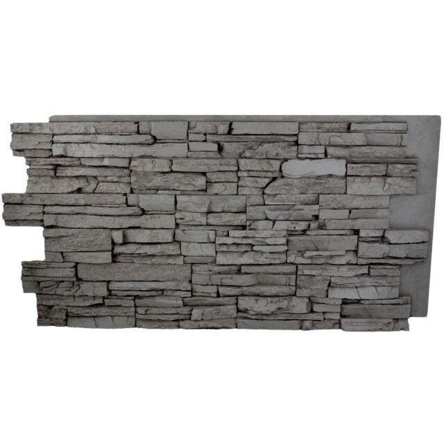 Faux Stone Siding Half Panel Veneer Lightweight Wall Modules Stacked