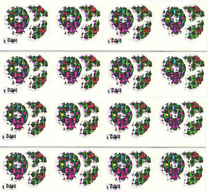 80/'s or 90/'s BIG LOT Christmas Wreaths Laser Stickers!