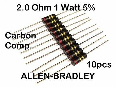 1 Watt 10/% 220 Ohm Carbon Composition Resistor NOS