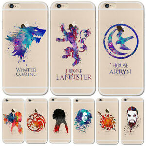 Game-Of-Thrones-Watercolor-art-TPU-Phone-Case-For-iPhone-X-6S-6Plus-5-5s-7-8