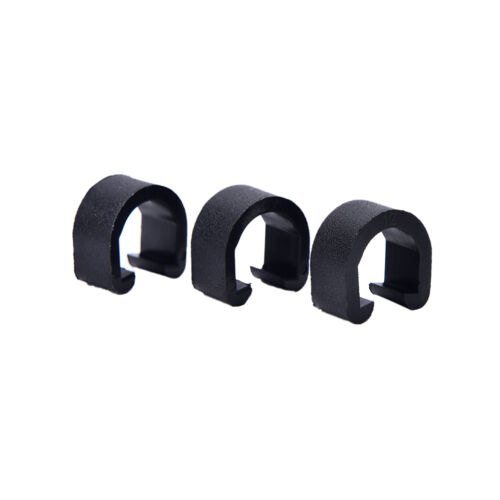 30pcs Black  Bicycle C-Clips Buckle Hose Brake Gear Cable Housing Guide TUV
