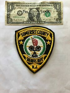 Details about Somerset County New Jersey Police Patch (Sheriff's Dept )  un-sewn in Great Shape