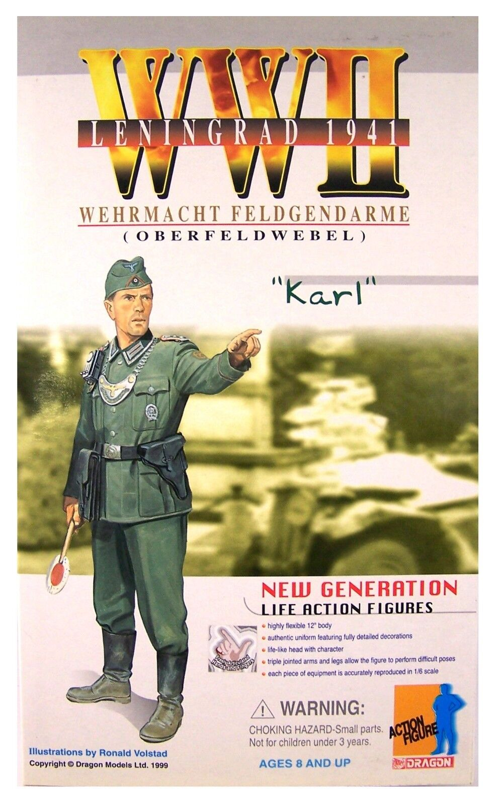 Dragon Models WWII Karl  German Feldgendarme 1 6 fig Early Dragon Release D70003