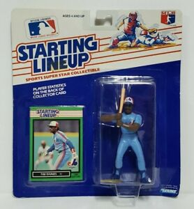 TIM RAINES - Montreal Expos Kenner Starting Lineup SLU 1989 Action Figure & Card