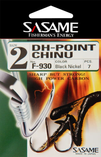 Sasame DH-Point Chinu High Power Flatted 35-45 pc Fishing Hooks Extra Sharp BLN