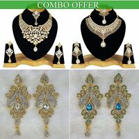 Handmade Combo Offer Gold Plated Zerconic Kundan Necklace Sets Earrings Co003