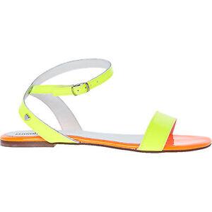 Love Moschino Uk Neon 5 sandali arancio piatti giallo e Taglie 6 ppqdr