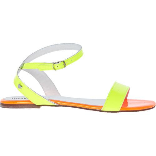sandali Uk arancio Moschino Taglie piatti e Neon 5 Love 6 giallo aqZXw7