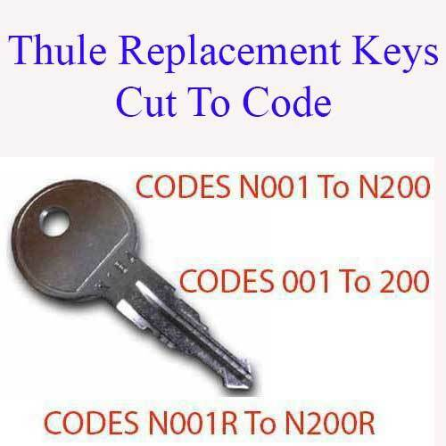 CUT BY LOCKSMITHS 2 x Replacement Keys for Thule Roof Box FREE DELIVERY