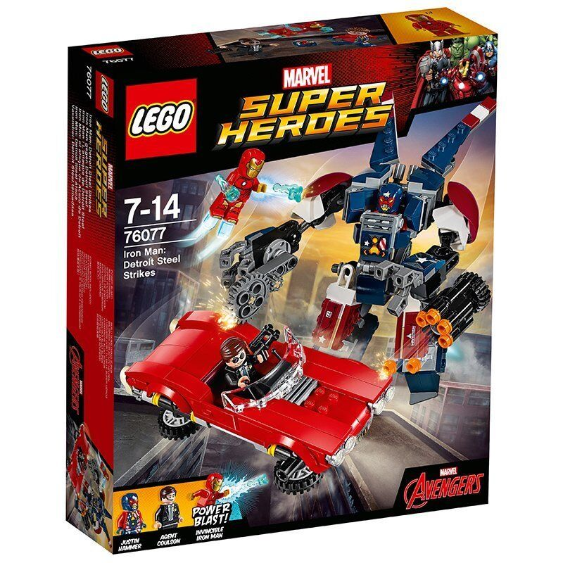 LEGO Super Heroes 76077  Iron Man Detroit Steel Strikes Strikes Strikes - Brand New a05df6